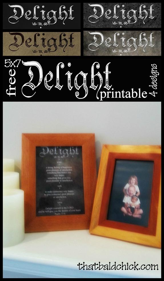 delight printable