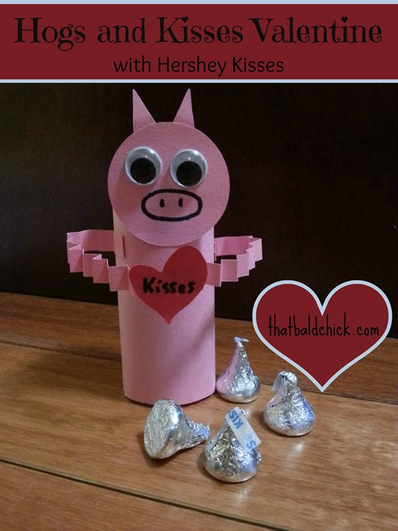 DIY Hogs and Kisses Valentine @thatbaldchick