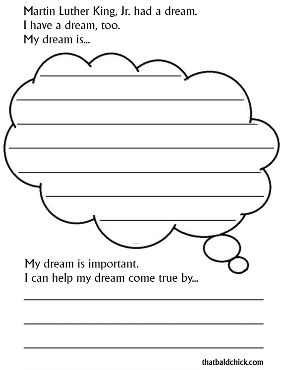 martin luther king jr free printable worksheets