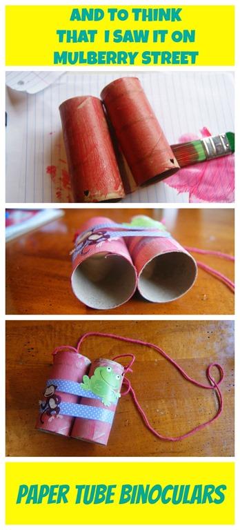 paper tube binoculars @thatbaldchick