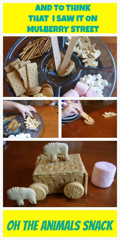Mulberry Street Unit Study- Oh the Animals Snack
