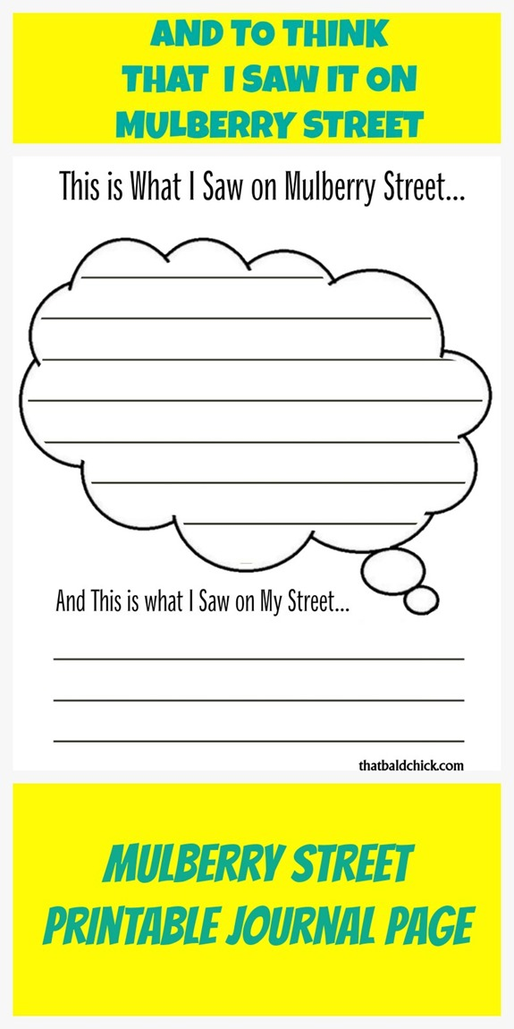Mulberry Street Printable Journal Page