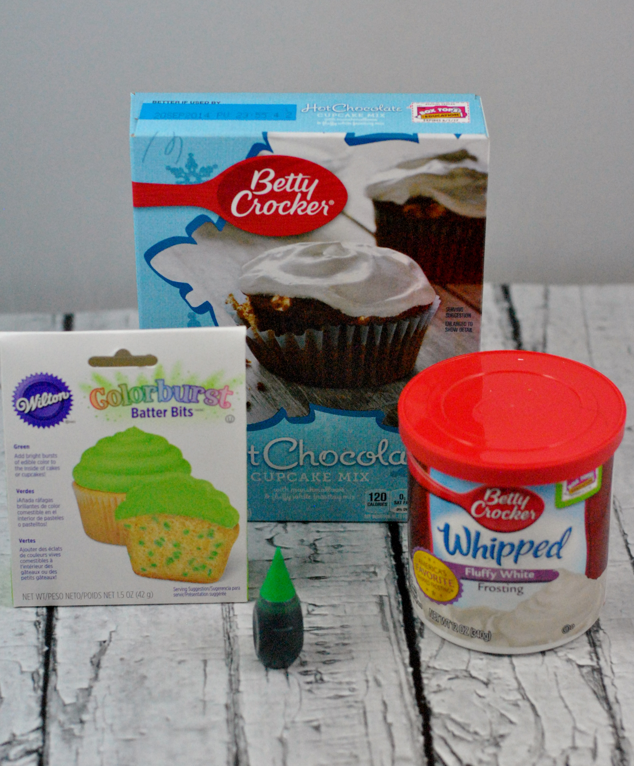 Simple Shamrock Brownies Ingredients