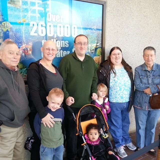 Our Family at SeaLife Aquarium