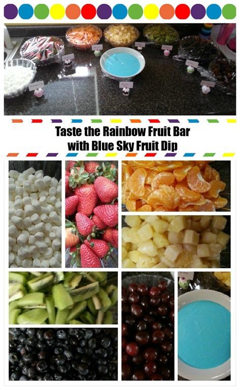 Taste the Rainbow Fruit Bar and Blue Sky Dip