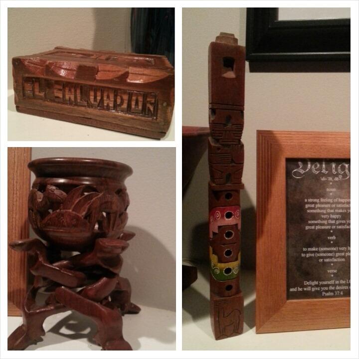 Wood Trinkets on Mantel