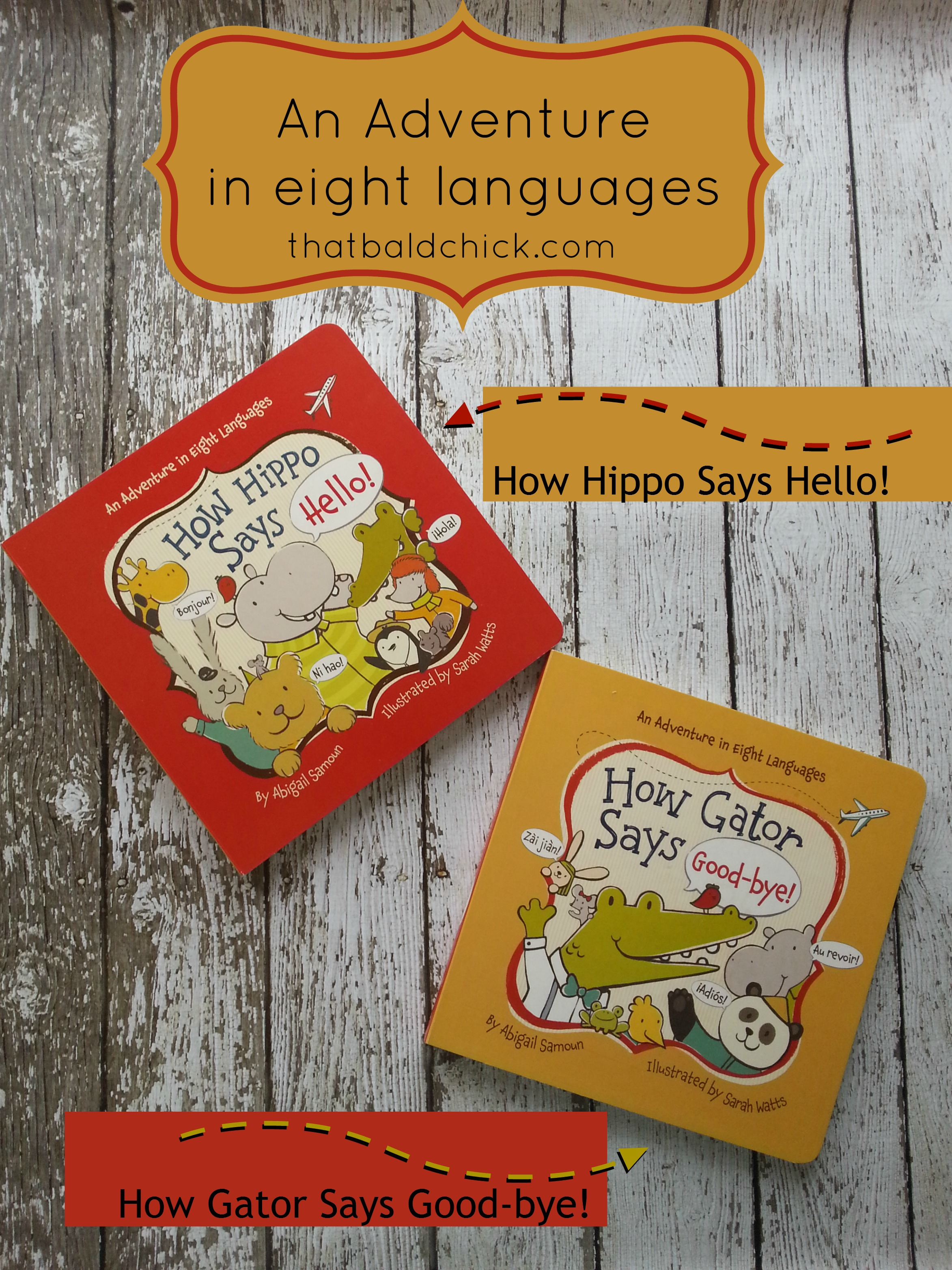 how hippo says hello and how gator says good-bye