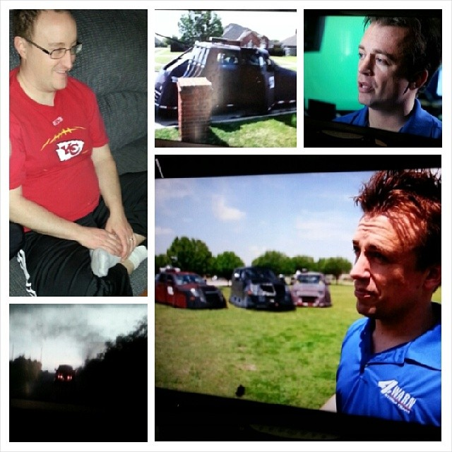watching tornado chasers