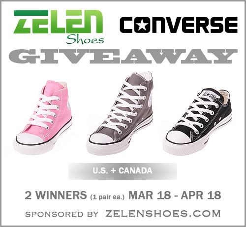 Zelenshoes.com #WinConverse Giveaway | 2 Winners (4/18)