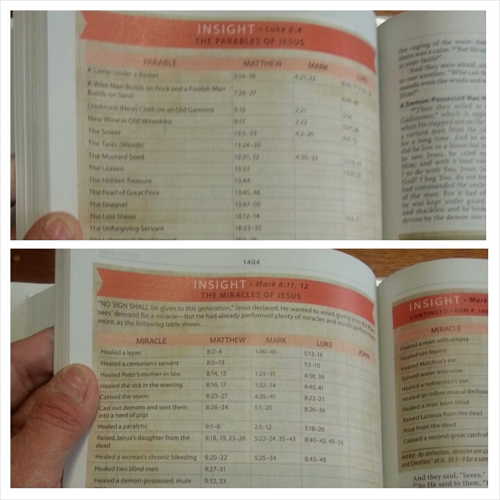 Modern Life Study Bible Charts