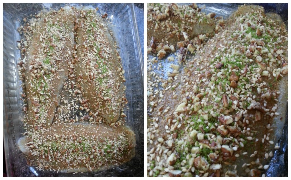 Preparing Pecan Crusted Swai with Herb Crystals