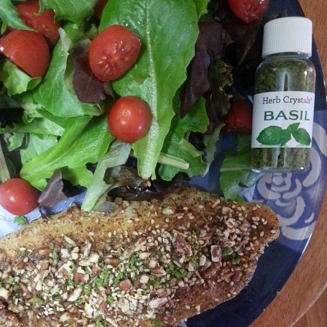 Pecan Crusted Swai with Herb Crystals