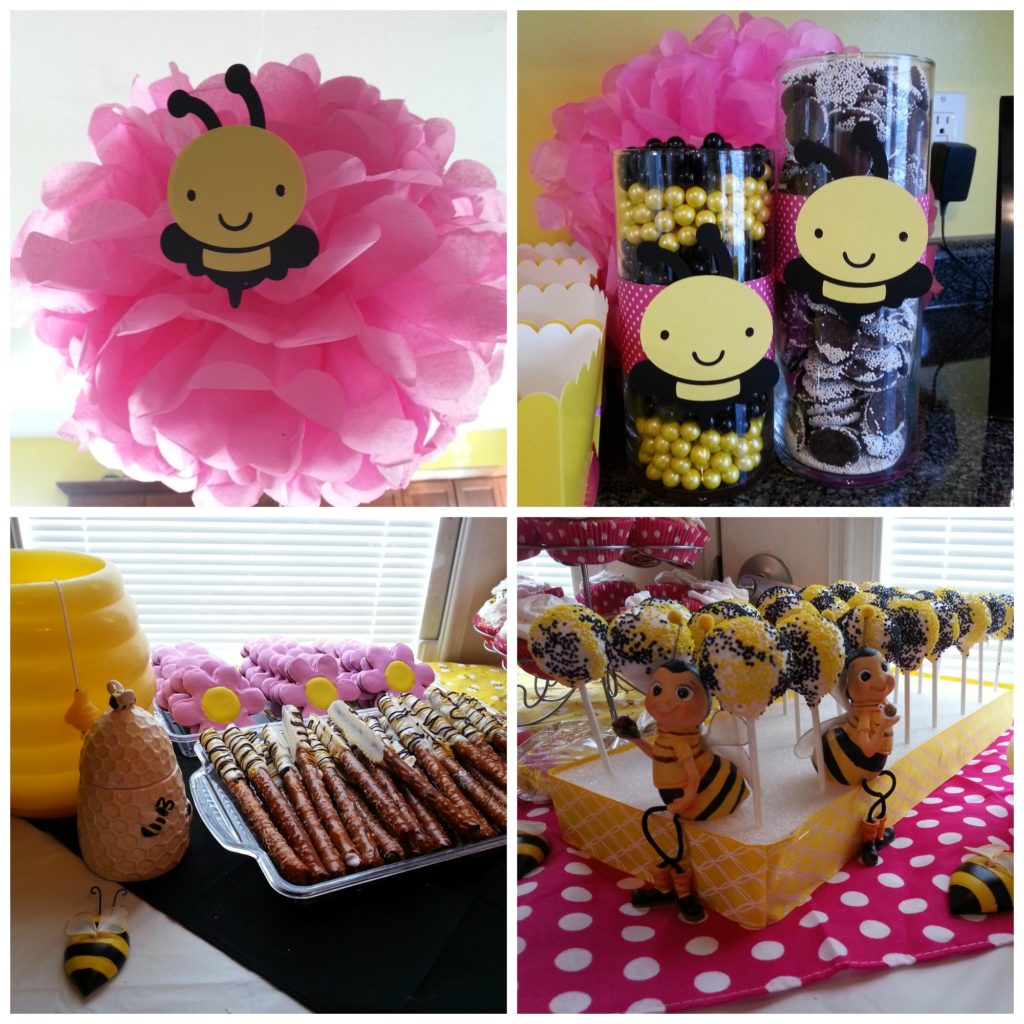 Bee Day Party with pink
