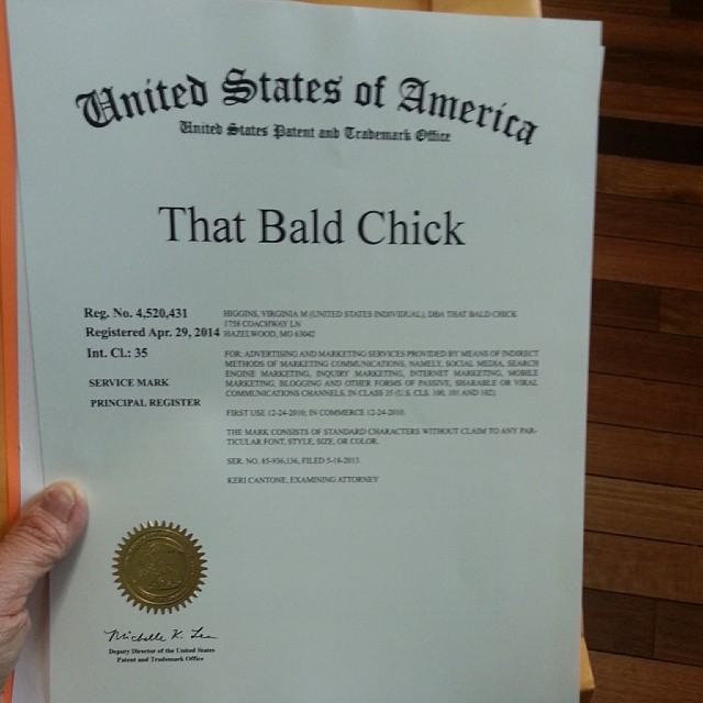 That Bald Chick Registered Trademark
