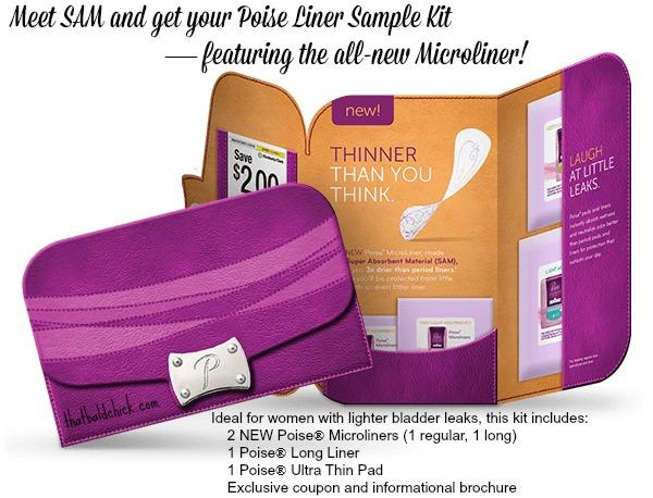 poise liner sample kit