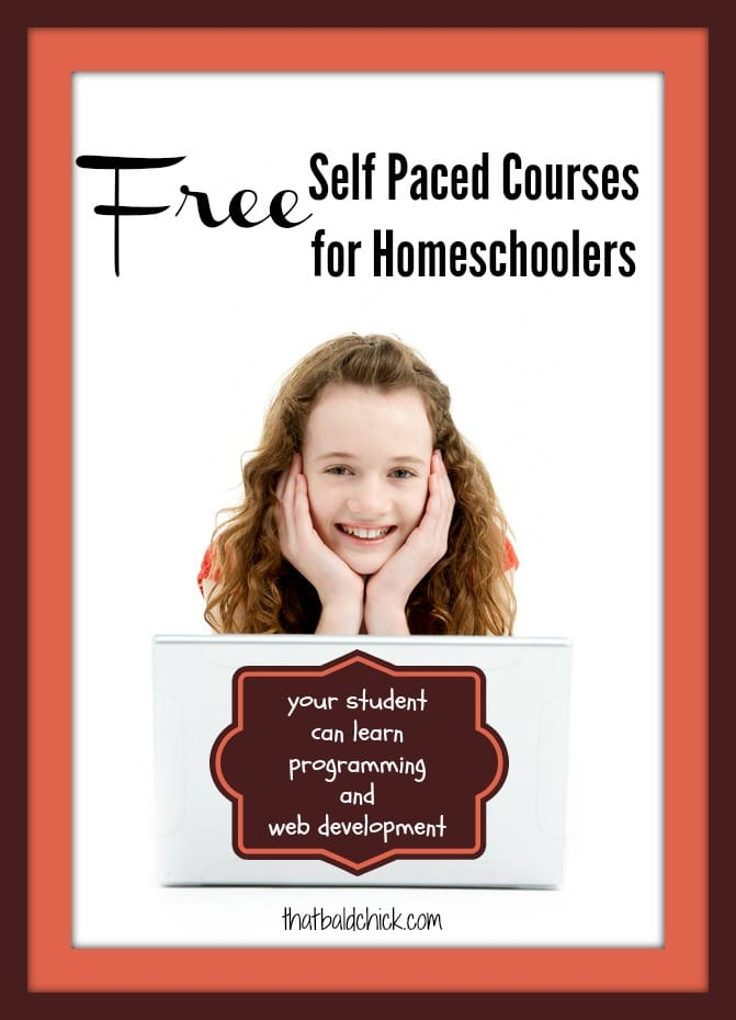 Free Self Paced Software and Web Development Courses for Homeschool Students