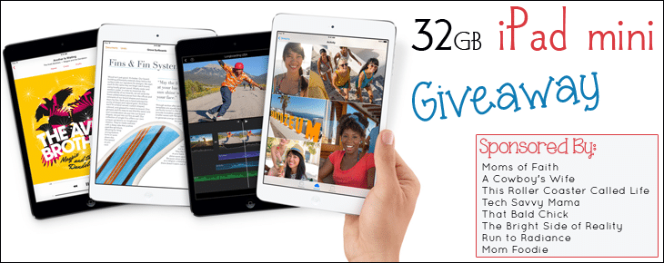 32 GB iPad mini Giveaway (ends 9/30) via @thatbaldchick