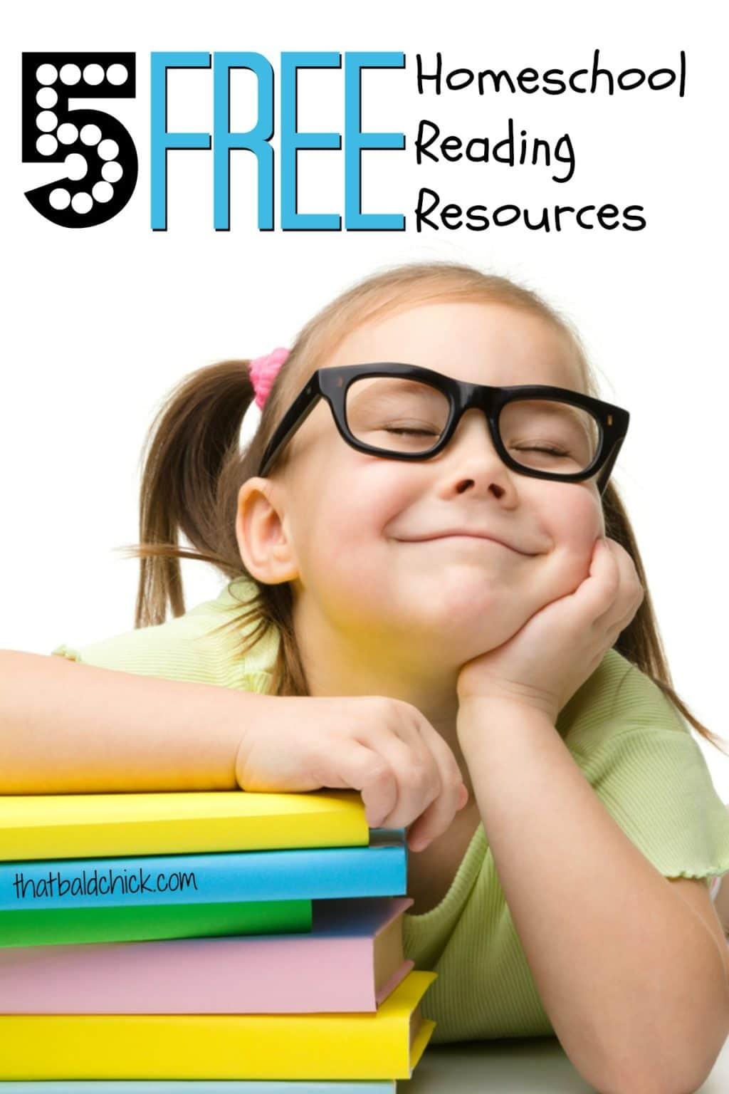 5 free homeschool reading resources via @thatbaldchick