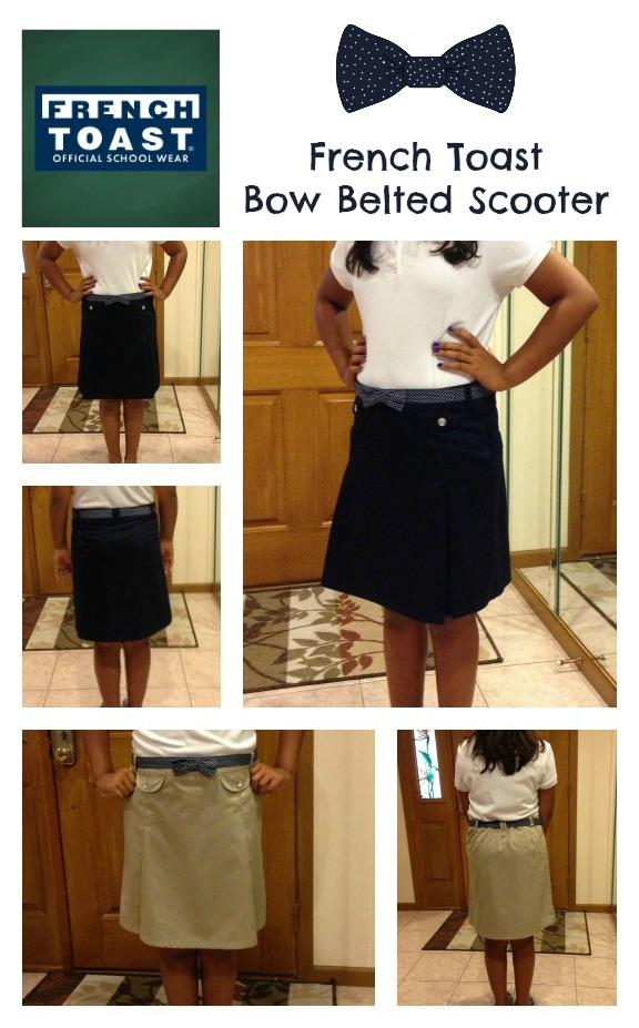 French Toast Bow Belted Scooter Skirt