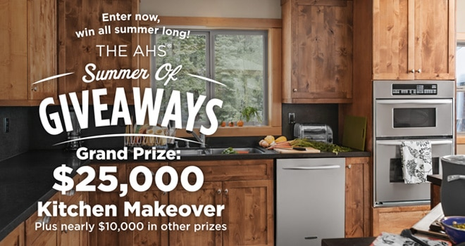 $25,000 kitchen makeover sweepstakes
