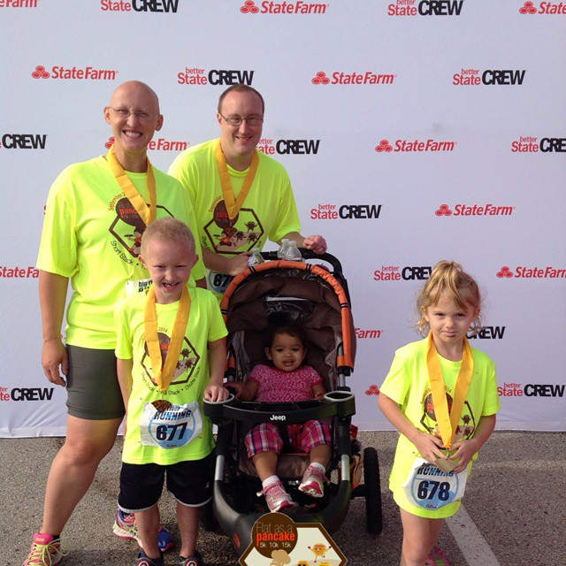 Our family at the Flat as a Pancake 5K