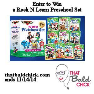 Rock N Learn Preschool Set Giveaway @thatbaldchick ends 11/14