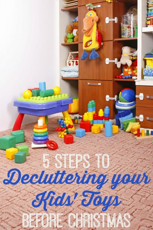 5 steps to decluttering your kids toys before Christmas