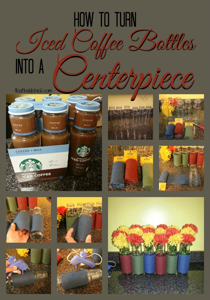 How to Turn Iced Coffee Bottles into a Centerpiece
