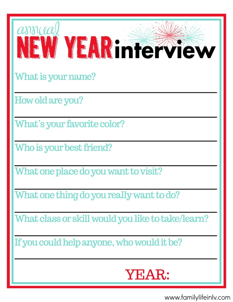 New Year Interview for Kids