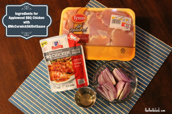 Ingredients for Applewood BBQ Chicken with #McCormickSkilletSauce @thatbaldchick