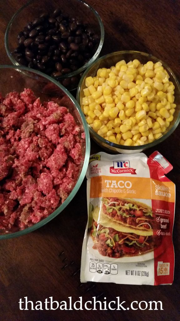 McCormick Skillet Sauce Nacho Night Ingredients