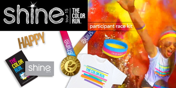 The Color Run Shine Tour 2015 Participant Kit
