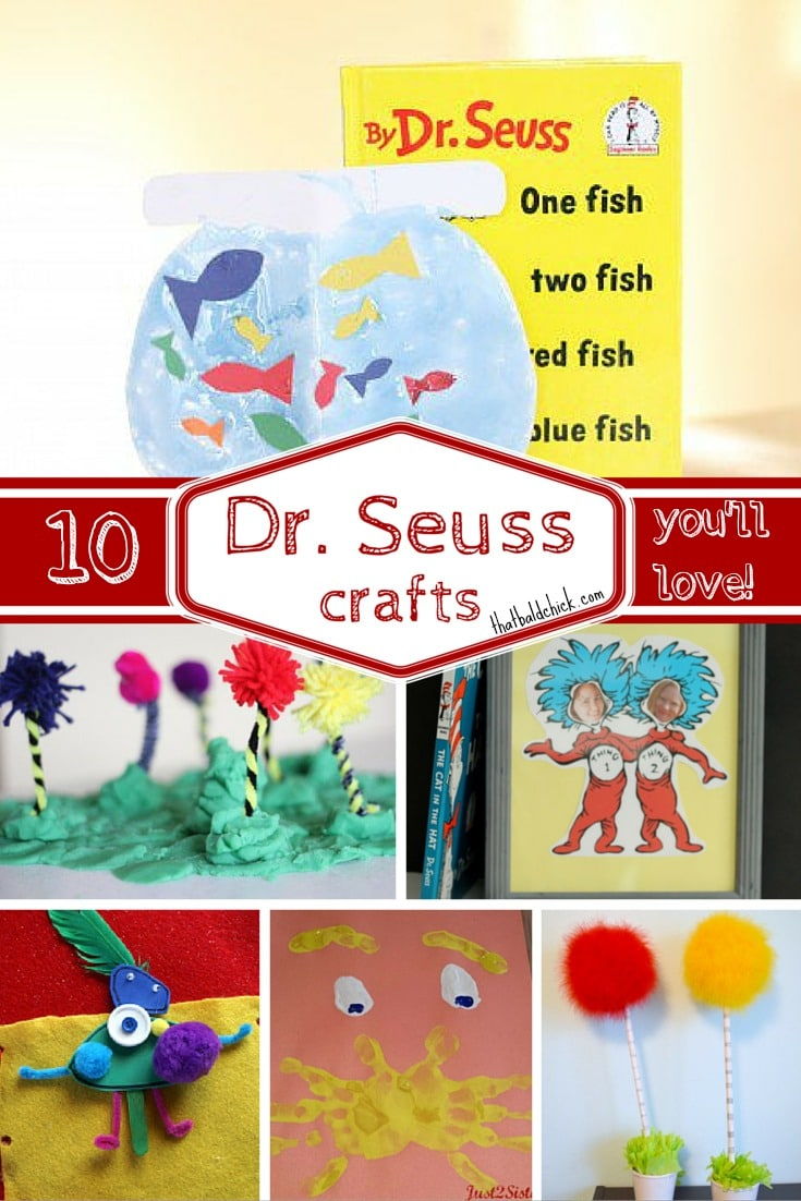 10 Super Fun Dr Seuss Crafts You'll Love @ thatbaldchick.com
