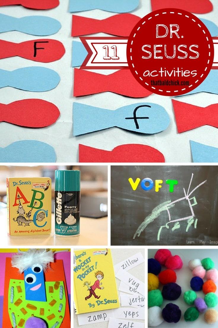 11 Super Fun Dr Seuss Activities that your kids will enjoy @ thatbaldchick.com