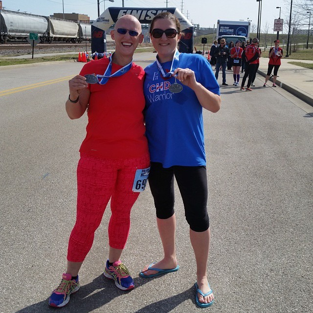 Abby and I at the Alton Half Marathon Finish Line