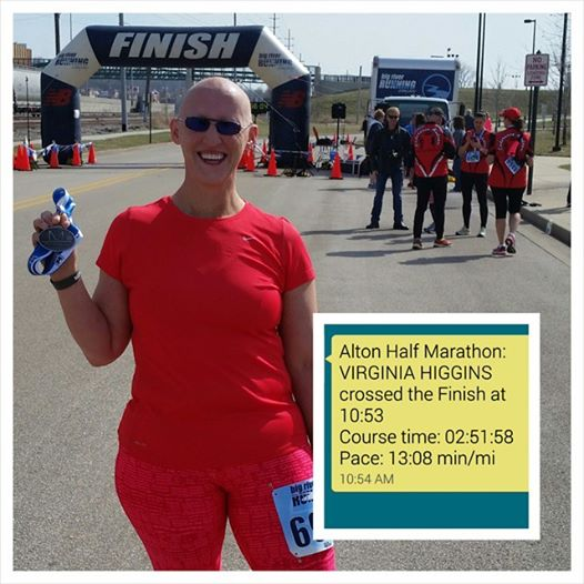 Alton Half Marathon 2015 finish line