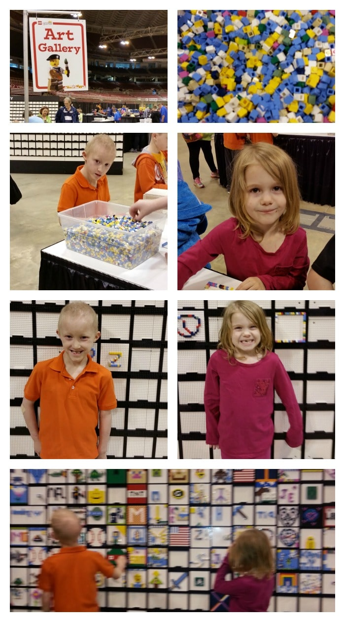 Lego Art Gallery at Lego KidsFest St Louis 2015