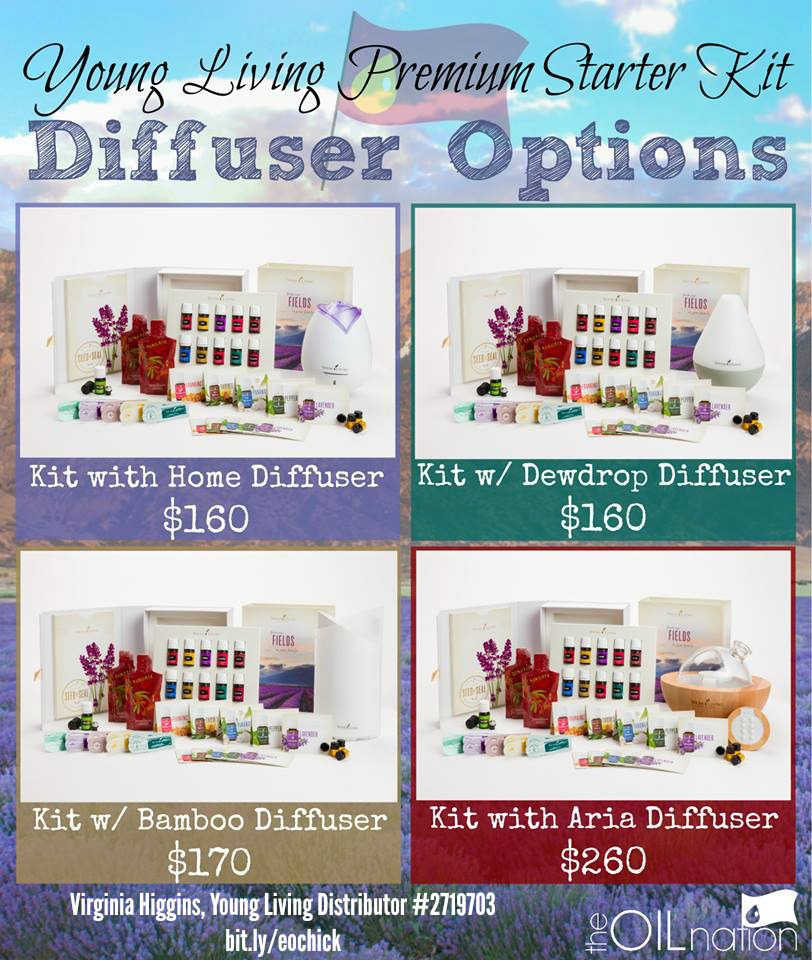 Young Living Premium Starter Kit Diffuser Options