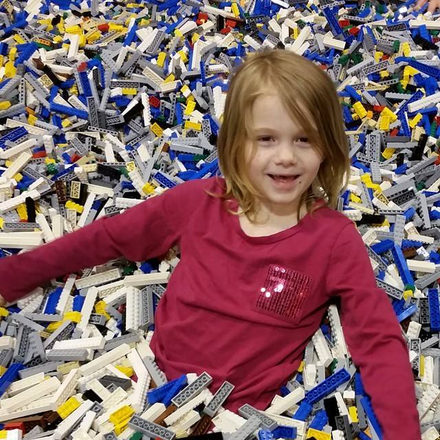 buried in a Lego brick pile at Lego KidsFest St Louis 2015