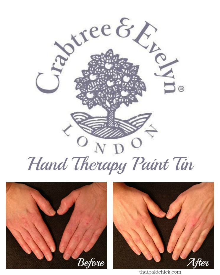 Before and After Crabtree & Evelyn Hand Therapy @thatbaldchick