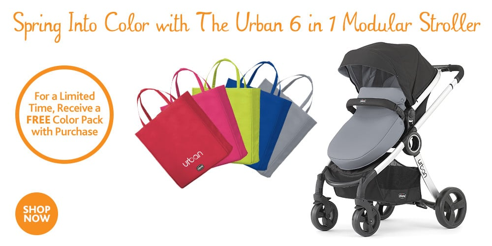 For a limited time, receive a free Color Pack with purchase of the Urban 6-in-1 Modular Stroller.  Details @thatbaldchick
