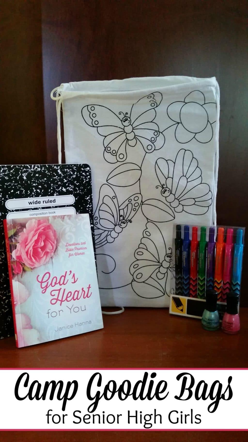 camp goodie bags for senior high girls @thatbaldchick