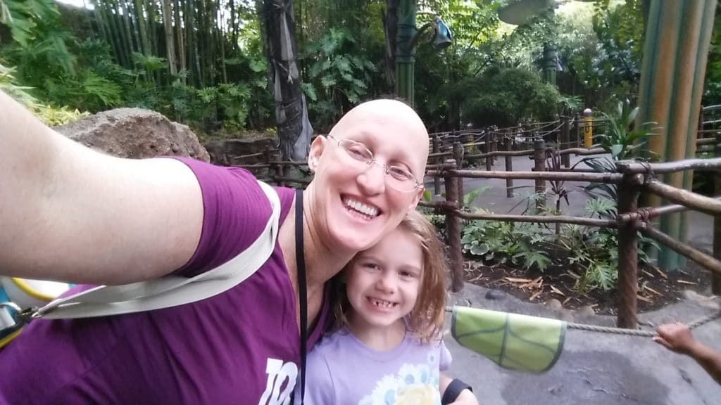 at Disneyland with my daughter