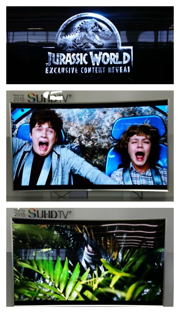 Samsung SUHD Jurrassic World Clip @BestBuy