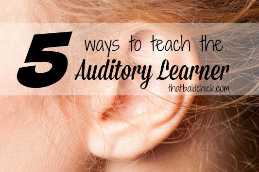 teaching the auditory learner @thatbaldchick
