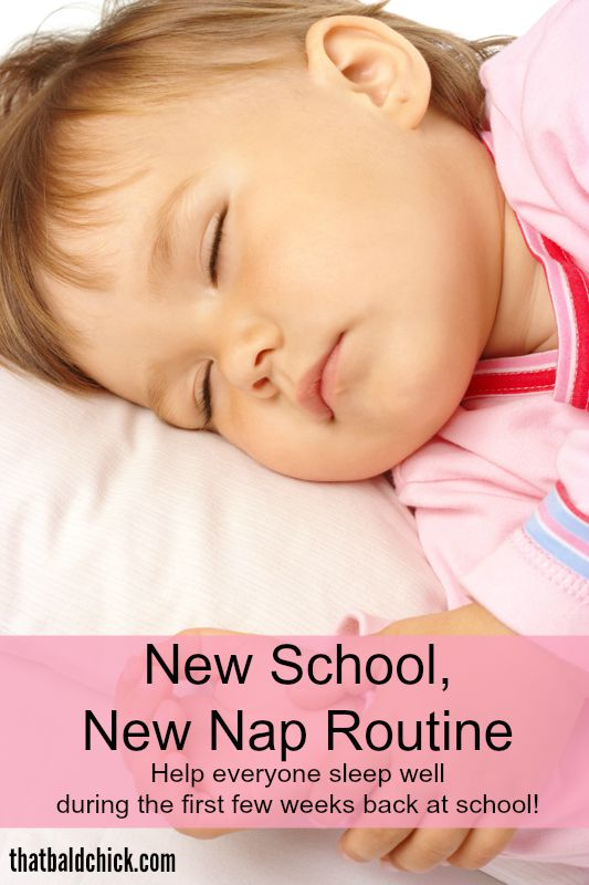 New School, New Nap Routine @thatbaldchick
