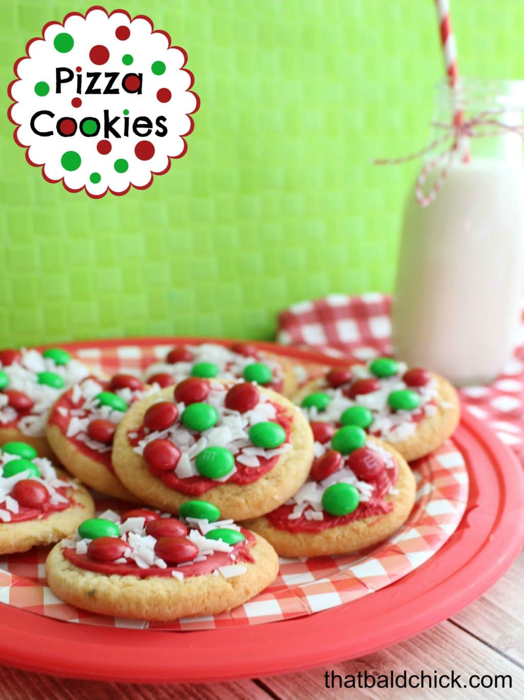Pizza Cookies @thatbaldchick