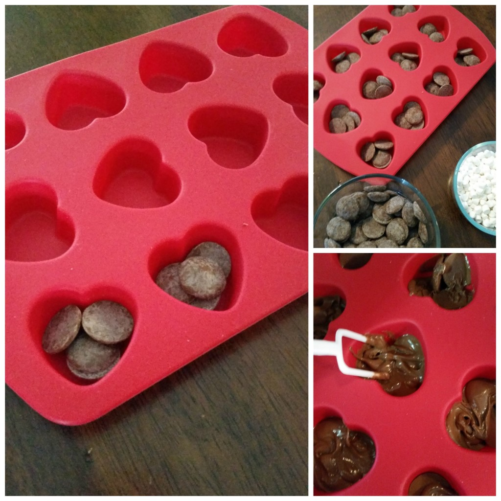 Fill each well with 4 -5 candy melts