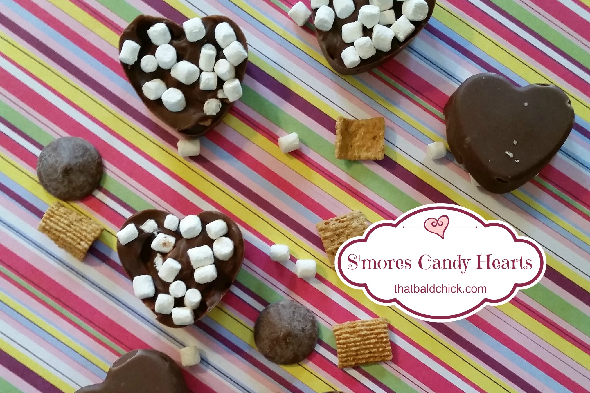 S'mores Candy Hearts @thatbaldchick
