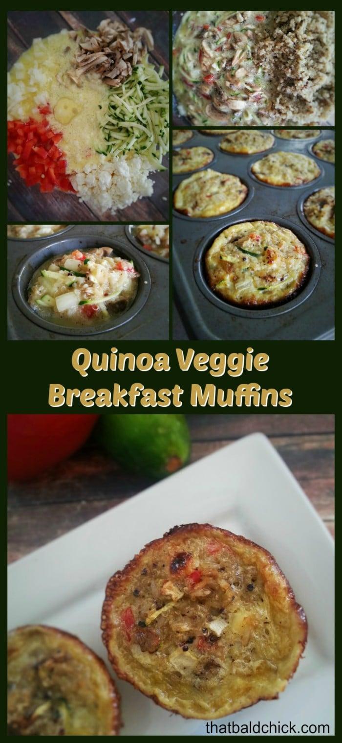 Quinoa Veggie Breakfast Muffins Recipe @thatbaldchick